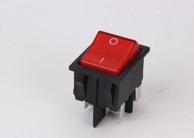 Push Button KCD Rocker Switch Double Pole Neon PA66 CE / ROSH Certificates