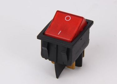 Multi Color KCD Rocker Switch 16A 250VAC PA66 / PC Over 100mΩ Insulation Resistance